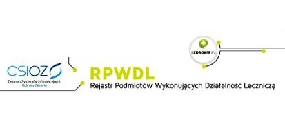 Rejestr Podmiotów Wykonujących Działalność Leczniczą (RPWDL)